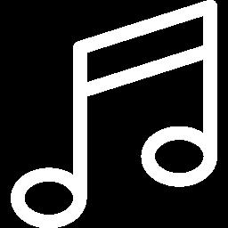 Muziek en filmpjes icoon